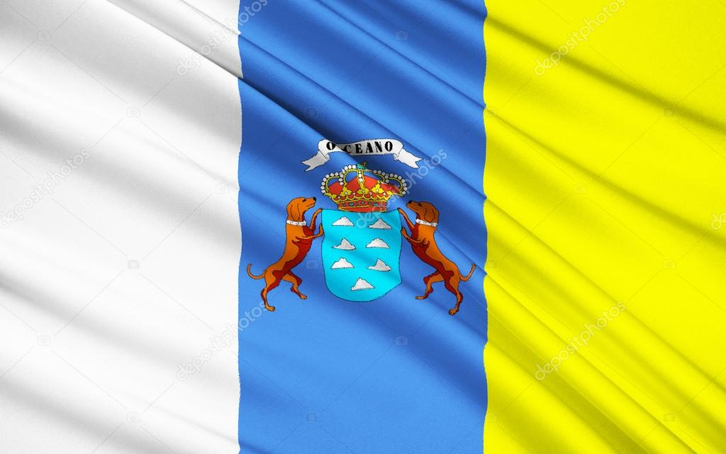 depositphotos 85637212 stock photo flag of canary islands las
